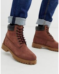 Red Tape Red Tape Oxblood Buckland Boot for men