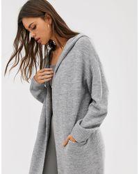 Cárdigan largo con capucha Micha Lounge de color Gray
