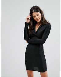 Rage - Black Knot Dress - Lyst