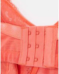 Коралловый Кружевной Бюстгальтер Plus Size-оранжевый Lindex, цвет: Orange
