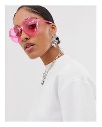 Occhiali da sole rosa a cuore di A.J. Morgan in Pink