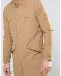 Bershka - Multicolor Lightweight Button Coat In Tan for Men - Lyst