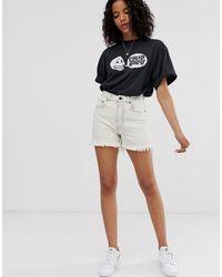 Donna - Mom shorts rigidi di Cheap Monday in White