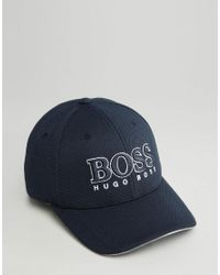 BOSS Green Blue By Hugo Boss Logo Baseball Cap for men