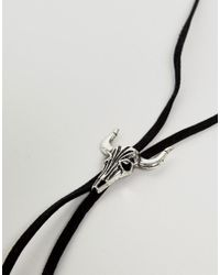 ASOS - Design Bolo Necklace With Rams Head In Black for Men - Lyst
