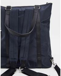 Zaino e borsa da spalla di Pieces in Blue