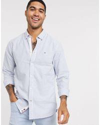 Camicia Oxford a righe a maniche lunghe di Tommy Hilfiger in Blue da Uomo