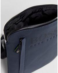 BOSS - Blue Boss Flight Bag In Navy for Men - Lyst