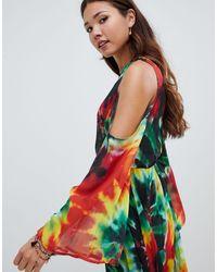 Vestito da spiaggia lungo di Jaded London in Multicolor