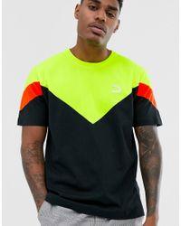 Camiseta ajustada negra MCS PUMA de hombre de color Black