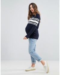 ASOS Blue Jumper With Stripe