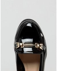 New Look Black Buckle Patent Loafer