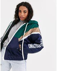 Куртка С Капюшоном И Логотипом -темно-синий Love Moschino, цвет: Blue