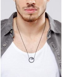 ASOS - Metallic Necklace With Circle Bead Pendant for Men - Lyst