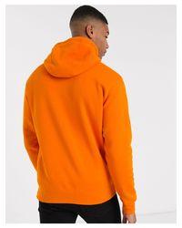 Club Tall - Felpa con cappuccio e zip arancione di Nike in Orange da Uomo