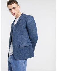 Blazer coupe slim - marine Noak pour homme en coloris Blue