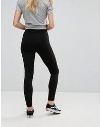Leggings con laccetti di New Look in Black