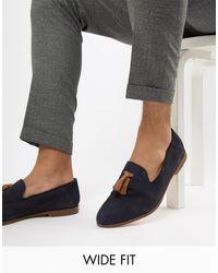 KG by Kurt Geiger Blue Kg By Kurt Geiger Wide Fit Contrast Tassel Loafers for men