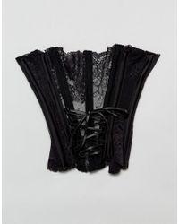Regal Rose - Halloween Black Lace Oversized Collar - Lyst