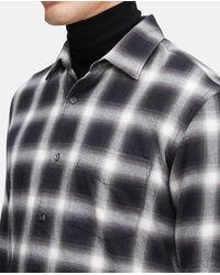 Camisas - Camisa pequeña de franela con algodón Madras NEGRO 100% algodón XS Aspesi de hombre de color Black
