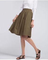 Aspesi Green Pure Cotton Skirt