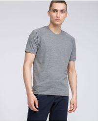 Aspesi Gray Mélange Cotton-blend Jersey T-shirt for men