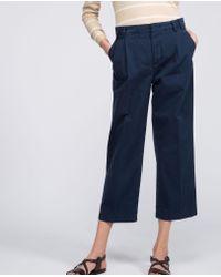 Aspesi Blue Pure Cotton Trousers
