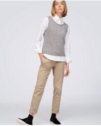 Aspesi - White Cotton Shirt Mandarin Collar - Lyst