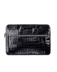 Aspinal Black Connaught Document Case