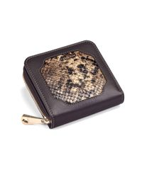 Aspinal - Brown Marylebone Mini Purse In Tan Snake - Lyst