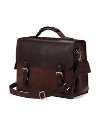 Aspinal - Brown Shadow Briefcase - Lyst