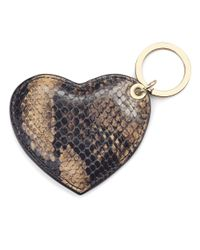 Aspinal - Multicolor Heart Key Ring - Lyst