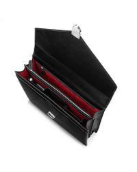 Aspinal Black Executive Laptop Briefcase