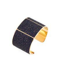 Aspinal - Black Minerva Cuff Bracelet - Lyst