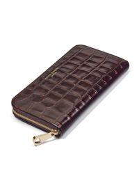 Aspinal Brown Continental Clutch Zip Wallet