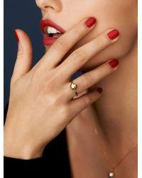 Nektar De Stagni - Metallic Gold/zircon Stone Smiley Emoticon Ring - Lyst