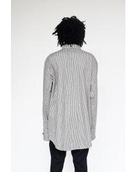 Assembly - Gray Cotton Railroad Stripe Chimayo Shirt for Men - Lyst