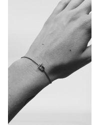 Lauren Klassen - Metallic 14k Gold Tiny Padlock Bracelet - Lyst