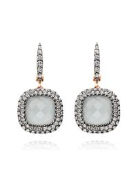 Astley Clarke | Multicolor Mini Connie Grey Aquamarine Earrings | Lyst