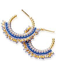 Astley Clarke | Black Rising Sun Aura Blue Diamond & 14k Yellow Gold Drop Earrings | Lyst