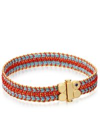 Astley Clarke | Metallic Coral Reef Wide Woven Biography Bracelet | Lyst
