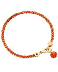 Astley Clarke - Multicolor Coral Woven Biography Bracelet - Lyst