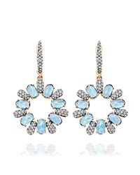 Astley Clarke | Blue Santa Maria Aquamarine Fao Earrings | Lyst