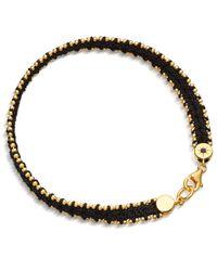 Astley Clarke | Metallic Biography Reed Woven Cord Friendship Bracelet | Lyst