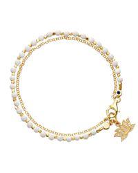 Astley Clarke   Metallic Agate Lotus Biography Bracelet   Lyst
