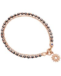 Astley Clarke | Metallic Hematite Sun Biography Bracelet | Lyst
