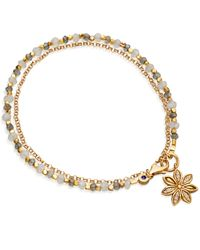 Astley Clarke   Metallic Gold-plated Labradorite Star Anise Biography Bracelet   Lyst