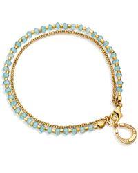 Astley Clarke | Blue Apatite Horseshoe Biography Bracelet | Lyst