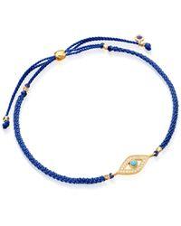 Astley Clarke Blue Evil Eye Skinny Biography Bracelet