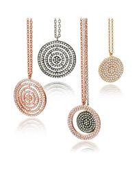 Astley Clarke Metallic Open Icon Pendant Necklace